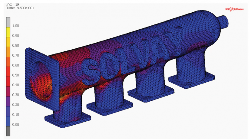 Ultimate Strength Prediction of a Plenum Under Pressure Produced by Selective Laser Sintering